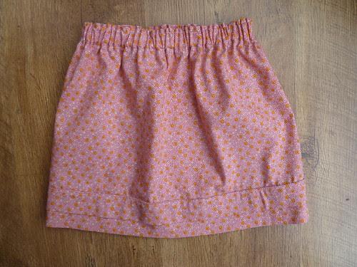 Simple gathered skirt