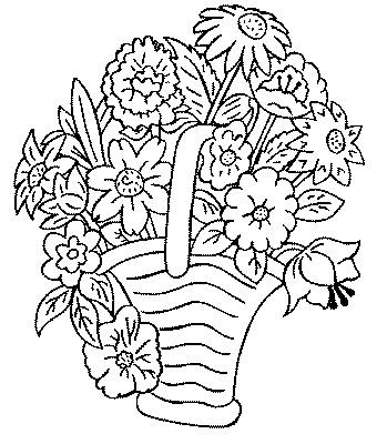 Coloriage Bouquet Fleur Fête Des Grands Mères Gratuit Ecologie