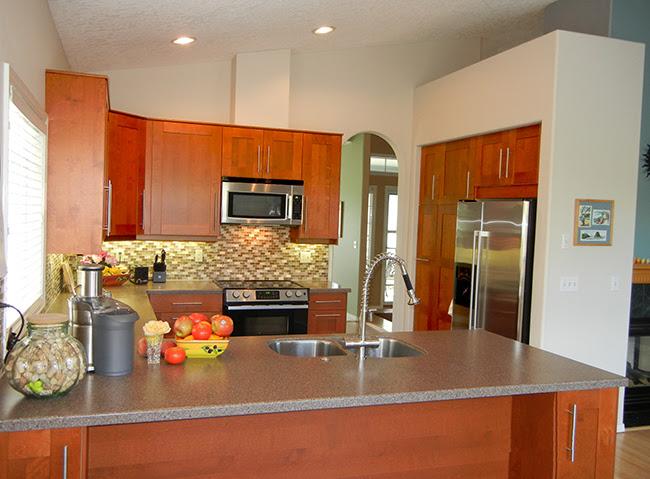 General Contractors Kitchen Remodeling Portland Or Ikea Adel Medium Brown Cabinets Tile Floor