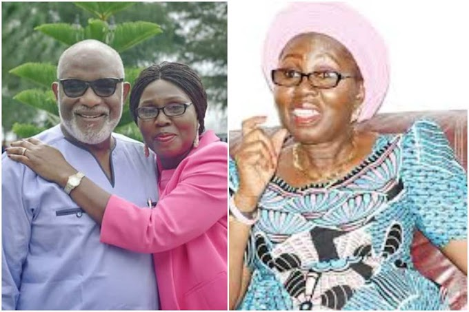 """You Are A Sex Offender Who Ran Away To Canada"" – Governor Akeredolu's Wife Lash At Social Media Critic"