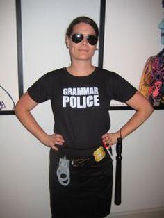 grammar police, women's halloween costume, teacher halloween costume