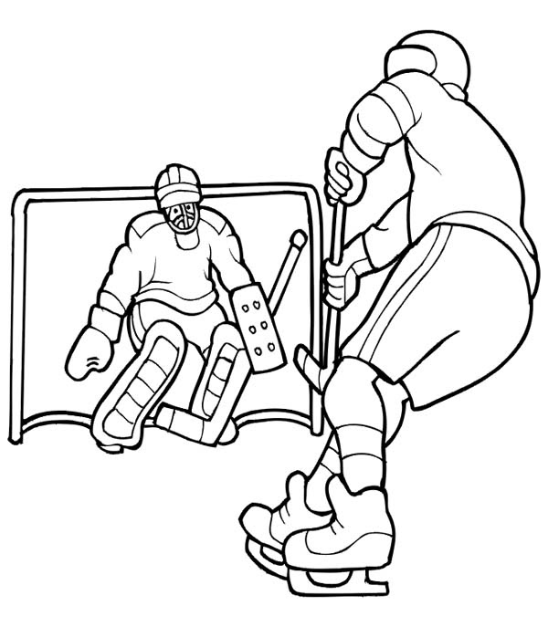 Hockey Coloring Pages - Bilscreen