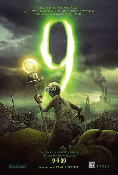 El póster de la película representa 9 con su linterna eléctrica.  Tenga en cuenta que la fecha de estreno de la película fue de 09-09-09, un guiño a la numerología ocultista y uno de los muchos coqueteos de la película con el número de la bestia, 666.