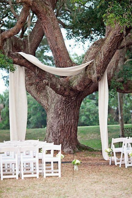 Ceremony Under the Trees Decor Ideas? : wedding ceremony