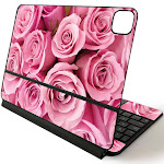 MightySkins APIPSK1120-Pink Roses Skin for Apple Magic Keyboard for iPad Pro 11 in. 2020 - Pink Roses