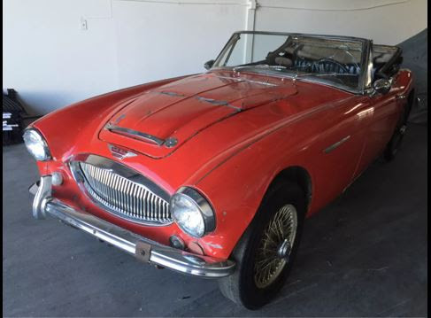 1965 AUSTIN HEALEY 3000 BJ8. IT IS A LEFT HAND DRIVE