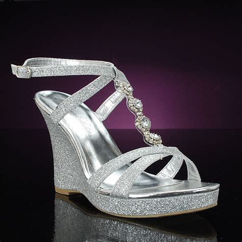 Silver Wedge Wedding Shoes Are In This Season   Wedding