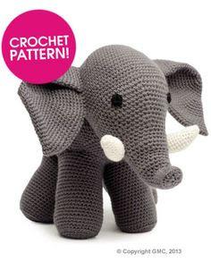 Amigurumi Elephant - FREE Crochet Pattern / Tutorial