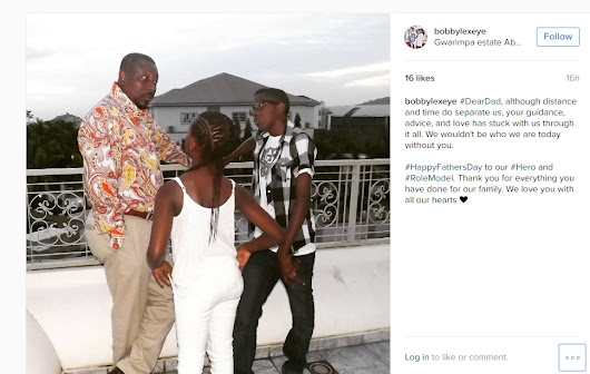 [Gist] Checkout BobbyLexeye's heartwarming #HappyFathersDay message to their Dad