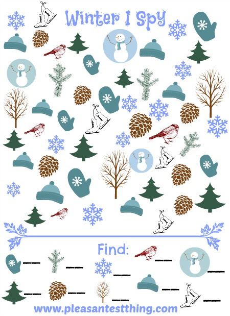 Winter I Spy Game - The Pleasantest Thing