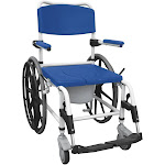 Drive Medical Aluminum Shower Commode Wheelchair, Blue