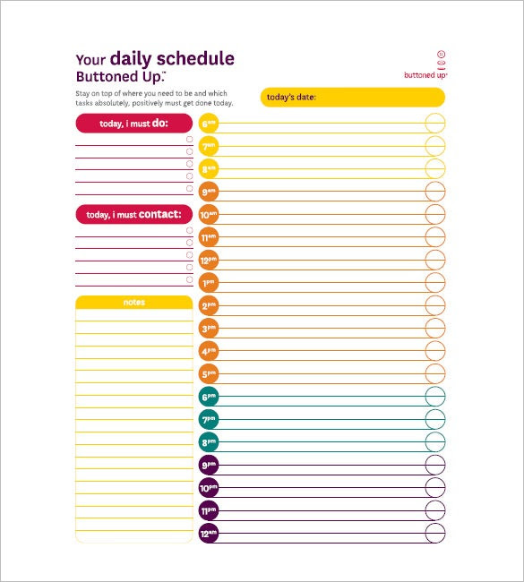 Daily Task List Template – 8+ Free Sample, Example, Format ...