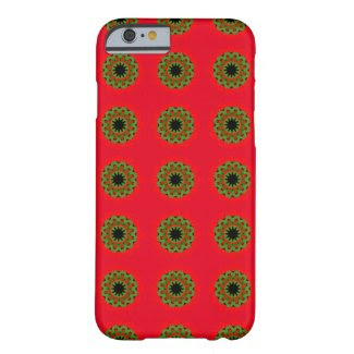 Flower Power on Red with iPhone6 Barely There Case Barely There iPhone 6 Case
