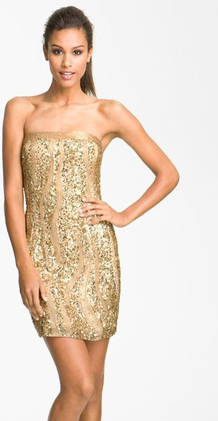 Adrianna papell sequin bodycon dress quartz yes the