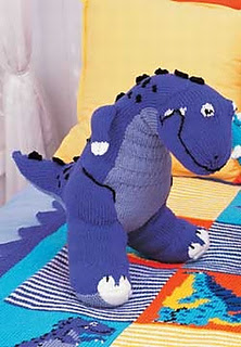 Knitting patterns free links: T-Rex Toy # free knitting ...