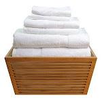 Turkish Towel 6-piece Towel Set- White
