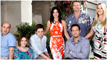 Cougar Town Cast: Courteney Cox, Christa Miller, Ian Gomez, Busy Philipps, Dan Byrd, Josh Hopkins, Brian Van Holt (not pictured: Carolyn Hennesey) Photo: ABC