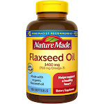 Nature Made Flaxseed Oil 1400 mg Softgels - 100ct