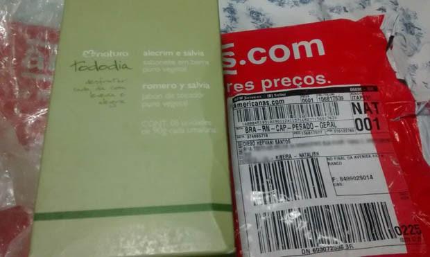 Consumidor recebeu sabonetes no lugar do smartphone (Foto: Fernanda Zauli/G1)