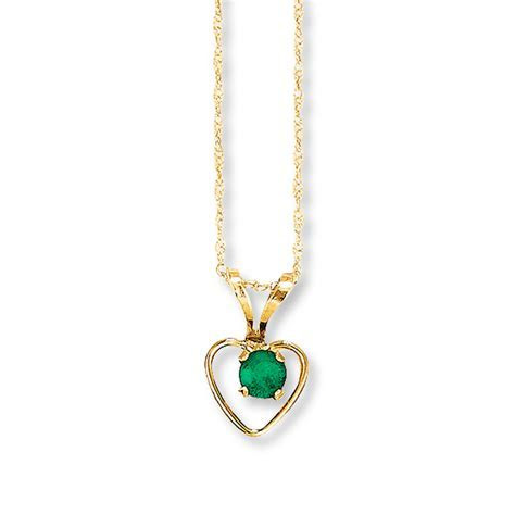 Natural Emerald Necklace 14K Yellow Gold   132841103   Kay