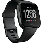 refurbished Fitbit FB504GMBK Versa Smartwatch with Heart Rate Monitor - Black