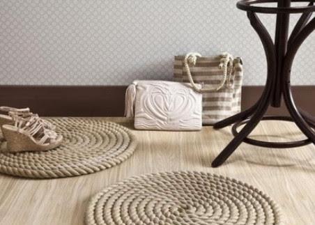 Делаем стильный коврик за 30 минут! Мастер-класс и идеи ковров из веревки...