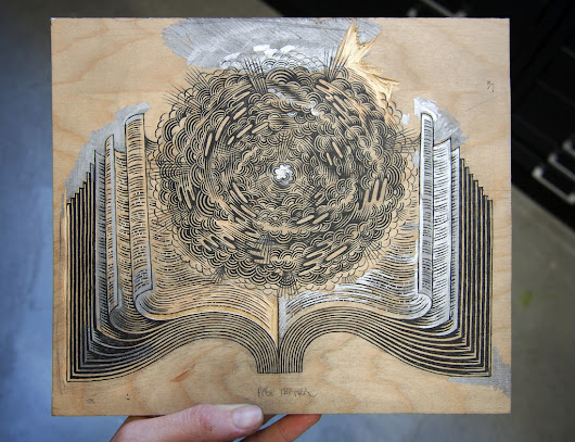 "Drawing to Carving ""PAGE TURNER"" Woodcut"