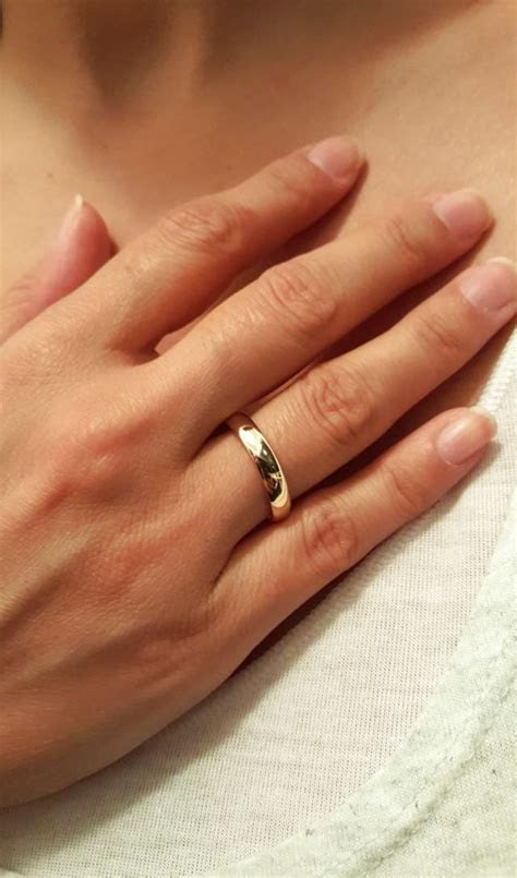 Rose Gold Wedding Bands For Her