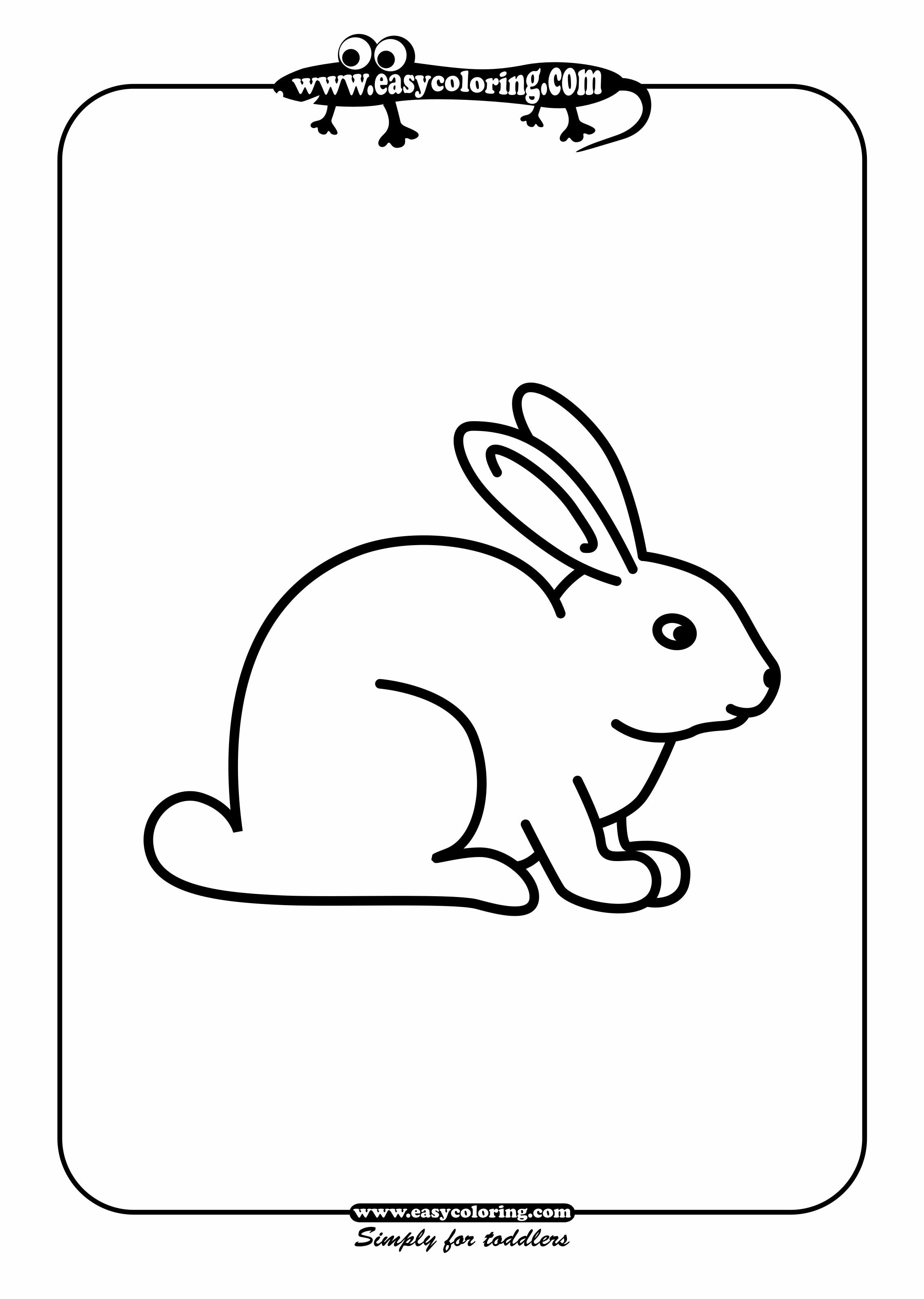 Rabbit - Simple coloring animals | Easy coloring animals ...