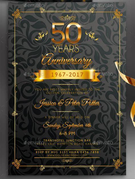 32  50th Wedding Anniversary Invitation Designs