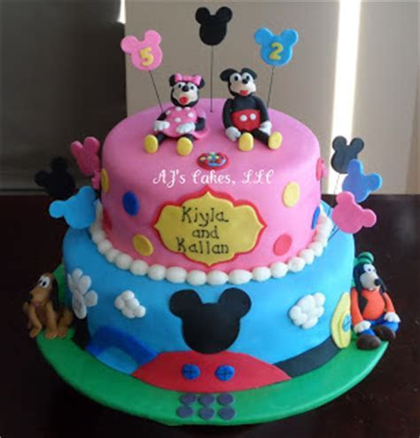 AJ's Cakes: Mickey Mouse Clubhouse Cake and Smash Cakes