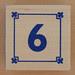 Block Lowercase Number 6