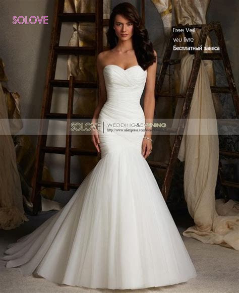 Cheap Elegant Mermaid Wedding Dress 2016 Sweetheart Bridal