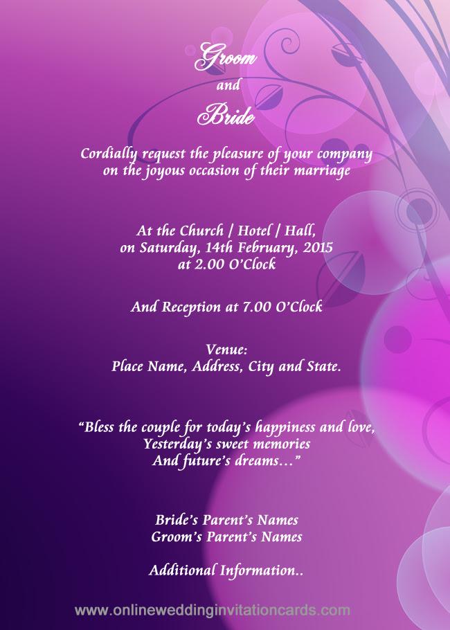 Indian Wedding Invitation Ecards Free - Printable Wedding Invitations