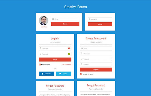 Creative Forms Responsive Widget Template