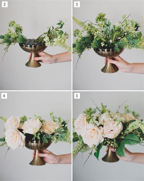 DIY: Silk Flower Centerpiece   Green Wedding Shoes