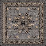 Taftan Oasis Rug, Gray (8' 0 x 8' 0)