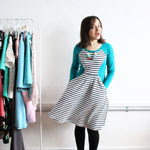 Teal and Stripe Zadie Dress