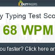 I can type 68 words per minute. Are you faster?