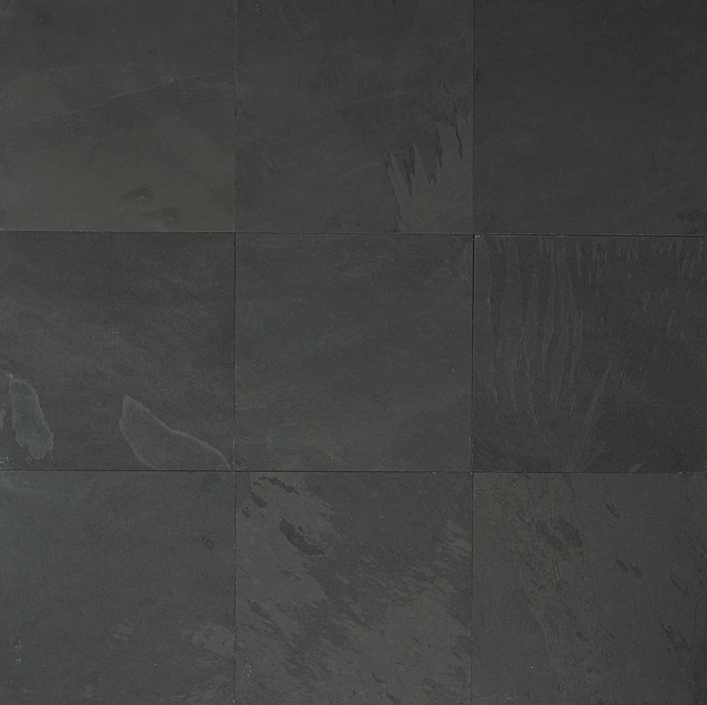 Black Pearl Bedrosians Slate Flooring Tile 16x16