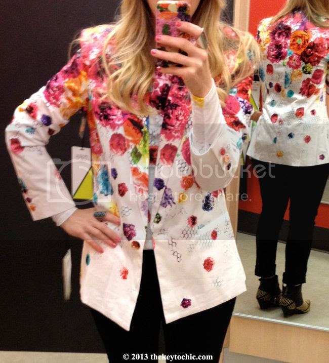Prabal Gurung for Target blazer in floral crush, Prabal Gurung for Target fitting room review