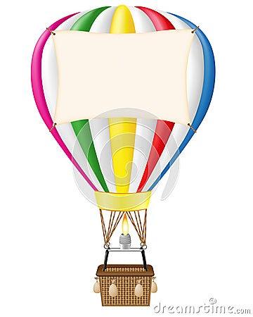 Colourful Hot Air Balloon Vector Stock Vector - Image: 39796636