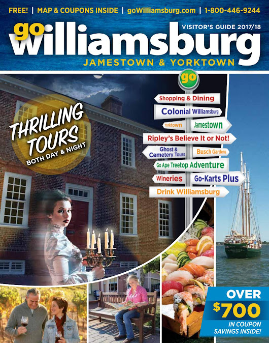 goWilliamsburg, Jamestown, Yorktown Visitor's Guide Fall/Winter 2017-2018