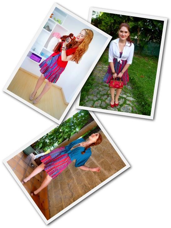 Ethnic Print dress Remix