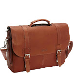 """Kenneth Cole Reaction """"Show Business"""" 4 Double Gusset Flapover With Pull Through Handle Portfolio/Computer Case, Cognac by Luggage Pros"""