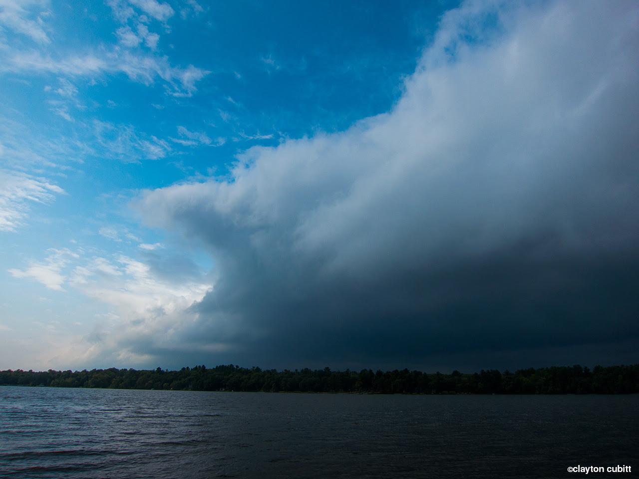 Rain clouds passing the lake, Minnesota  (2990)
