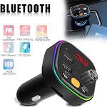 Bluetooth 5.0 Car FM Transmitter MP3 Player 2 USB Charger