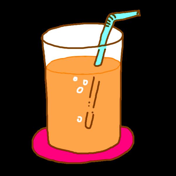 オレンジジュースのイラスト かわいいフリー素材が無料のイラストレイン
