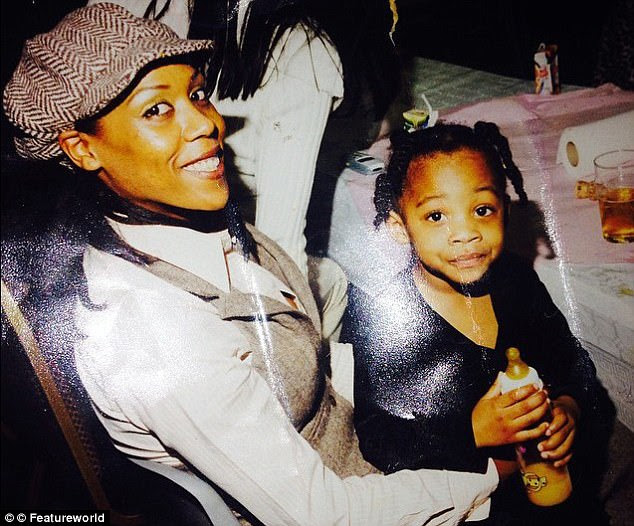 Sophia has another daughter, Donchae (pictured with her mother as a child) from a previous relationship who was born black