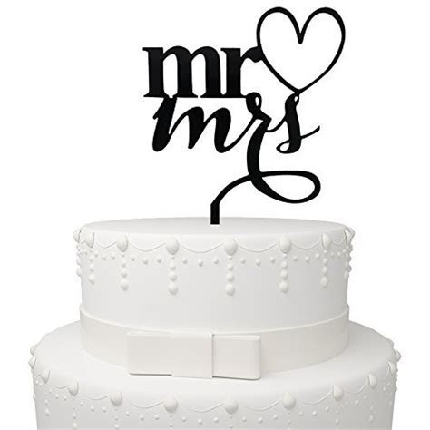 Mr&Mrs Drunk In Love Black Acrylic Cake Topper Couple